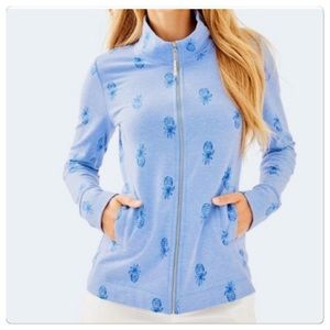 NWT, Lilly Pulitzer Blue Pineapple Bennett Jacket